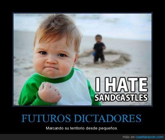 castillo de arena,dictador,niño,odio