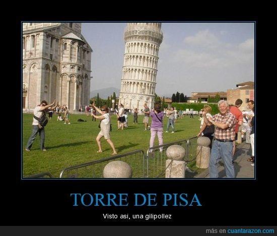 foto,gilipollez,torre de pisa