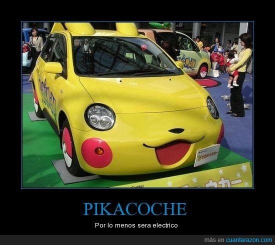 coche,pikachu
