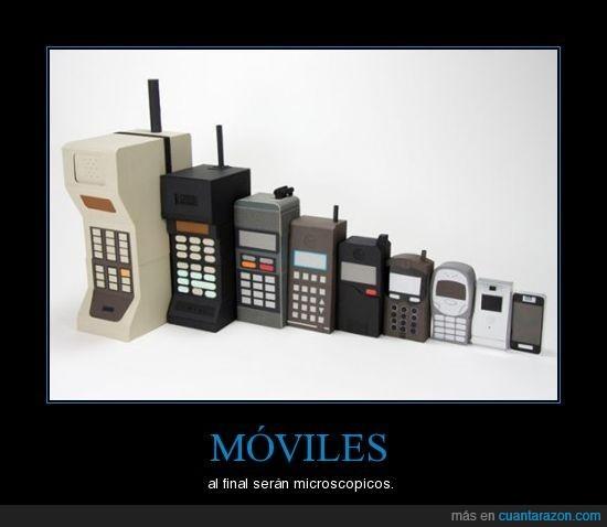 evolución,minusculo,moviles,tamaño
