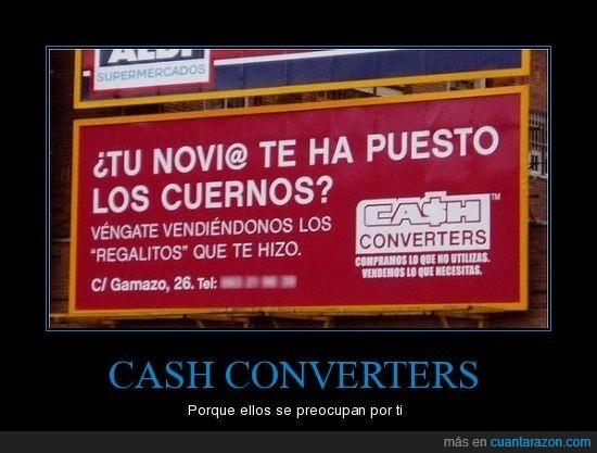 cartel,cash,converters,cuernos,publicidad