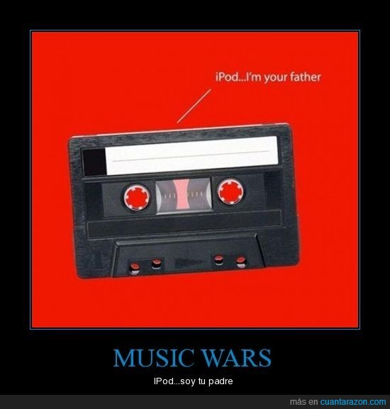 casette,father,guerra de las galaxias,ipod,padre,star wars