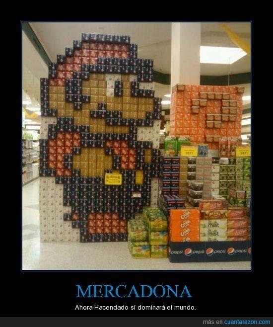 Hacendado,Super Mario,supermercado