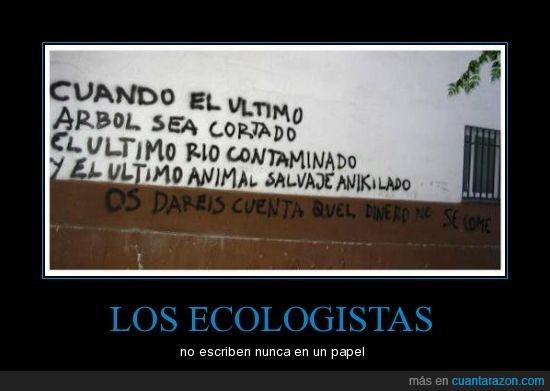 ecologista,escribir,papel
