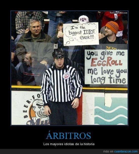 Árbitro,hockey hielo