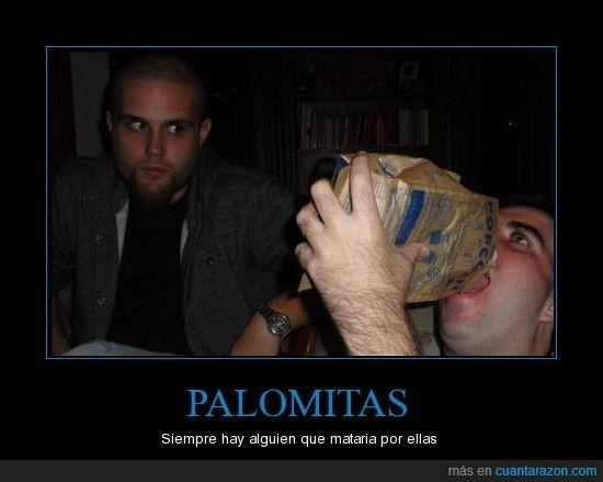 matar,mirada,Palomitas