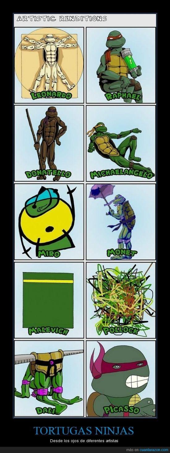 arte,artistas,tortugas