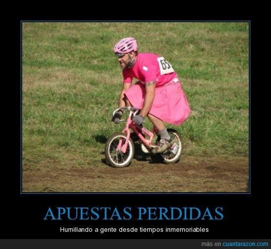 apuestas,bicicleta,humillar,rosa