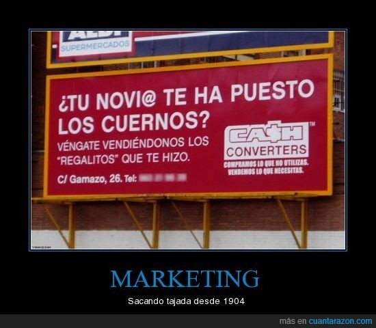 cash converters,cuernos,marketing,novia,novio,venganza
