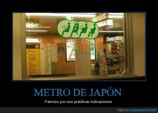 instrucciones,japoneses,metro