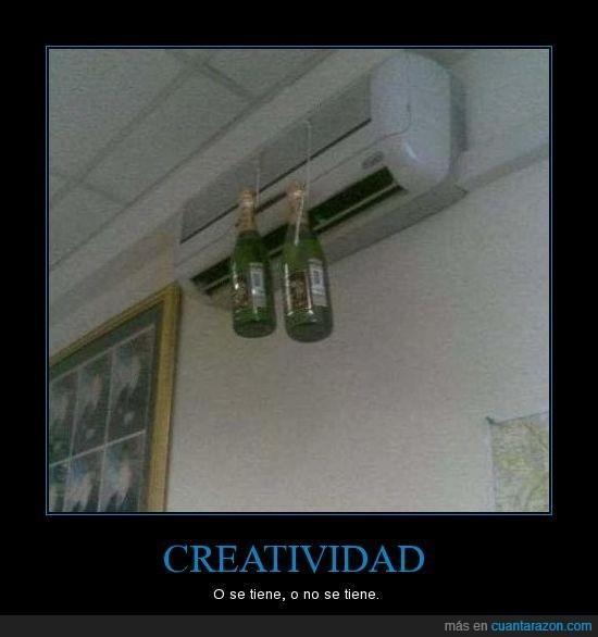 botellas,champan,creatividad