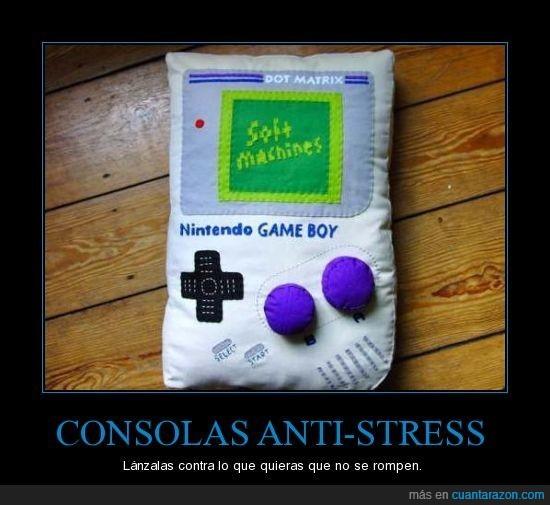 anti-stress,Consolas,contra,lanzar,rompen