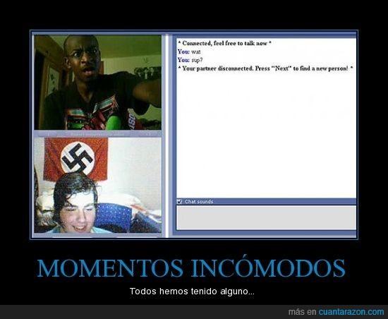 chatroulette,incómodo,nazi,negro