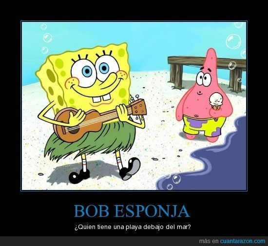 bob,esponja,mar,playa