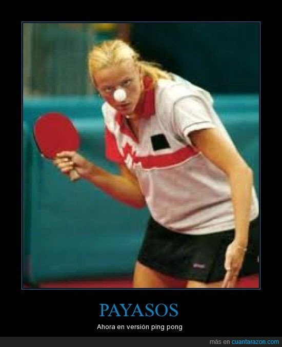 payasos,perspectiva,ping pong