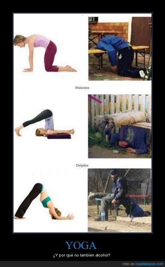 alcohol,posturas,yoga