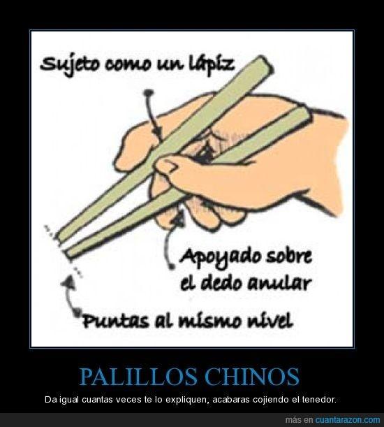 chinos,imposible,palillos,tenedor