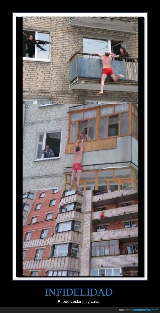 balcon,infidelidad,saltar
