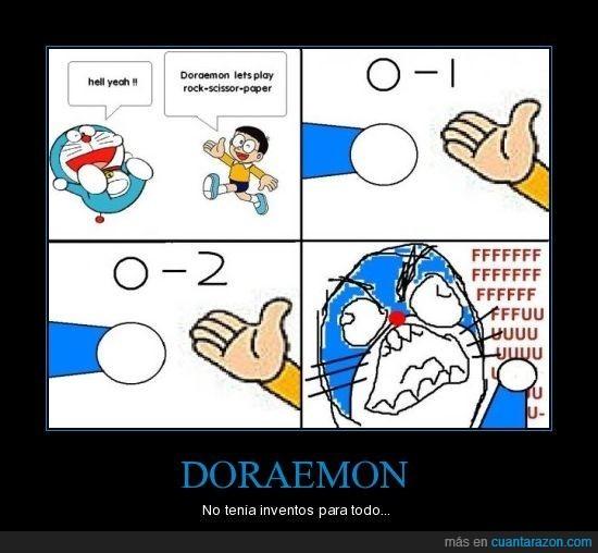 Doraemon,FU,Papel,Piedra,Tijeras