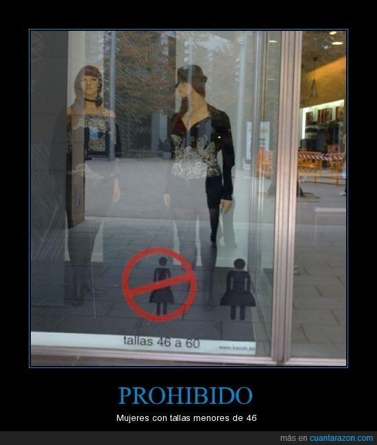cartel,foto,Prohibido,tallas