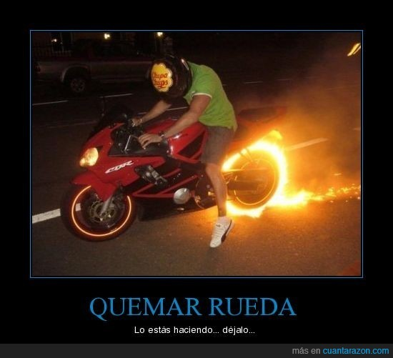 fail,motos,quemar,rueda