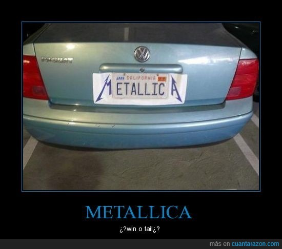 fail,metallica,win
