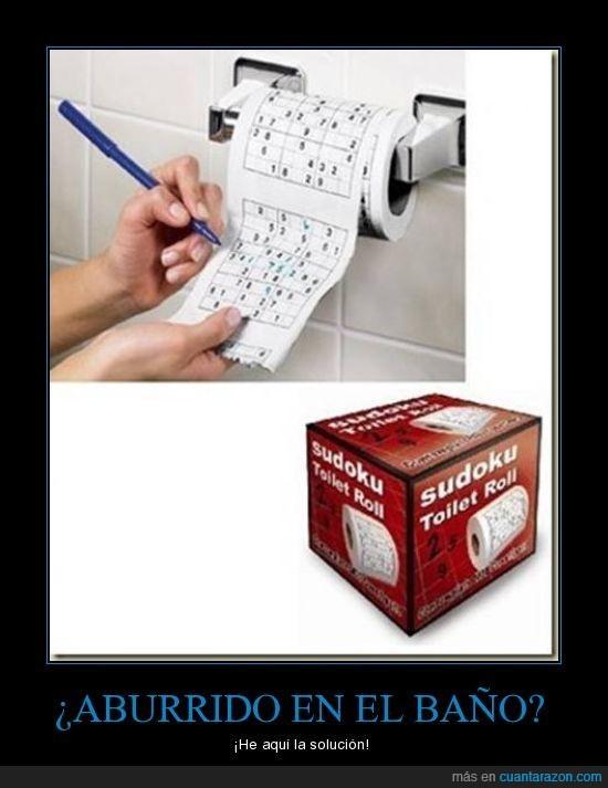 baño,papel higienico,sodoku