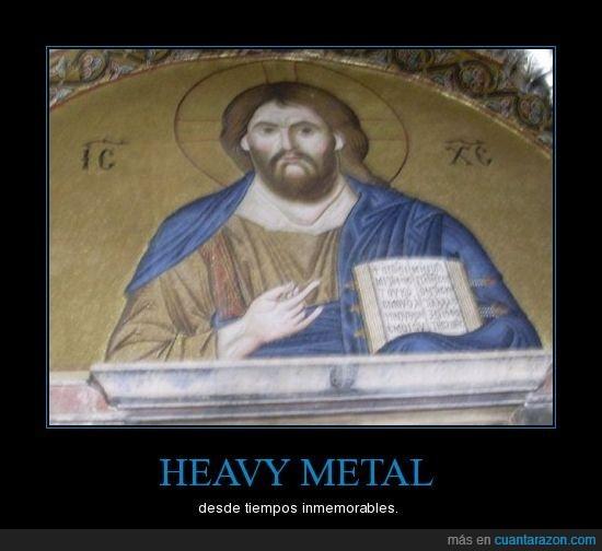 cuernos,heavy,jesucristo,metal