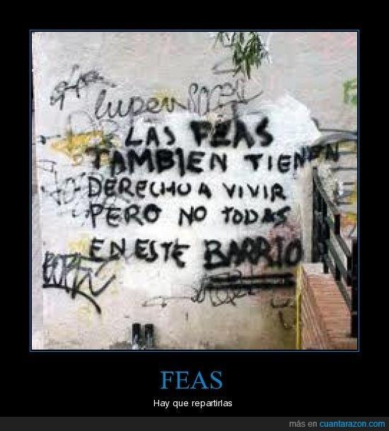 barrio,Feas,pared,pintada