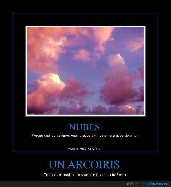 arcoiris,ñoñería,nubes
