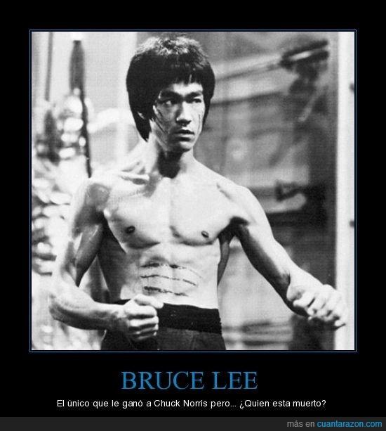 Bruce Lee,Chuck Norris,pelea