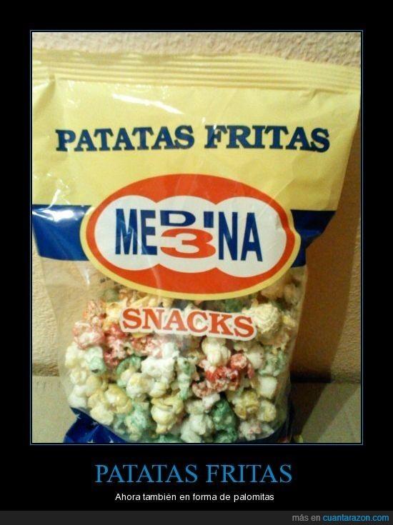 bolsa,fritas,palomitas,patatas,snacks