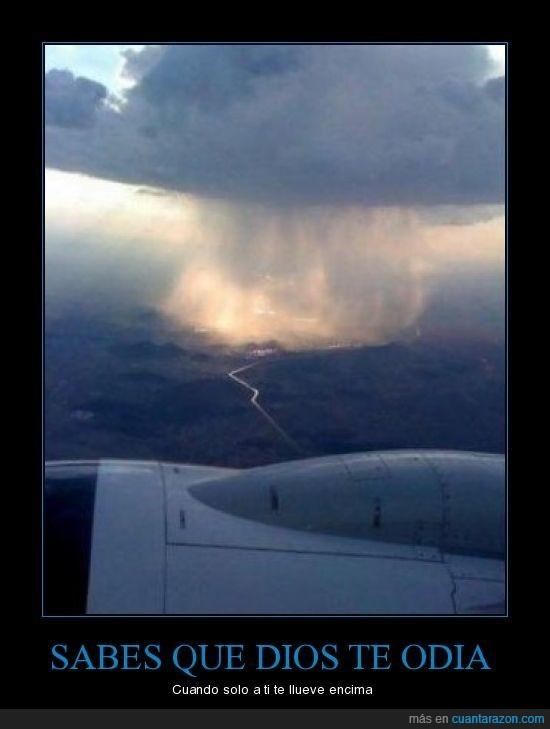 avión,dios,lluvia,paisaje,tormenta
