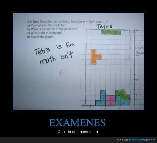 divertido,examen,matematicas,tetris