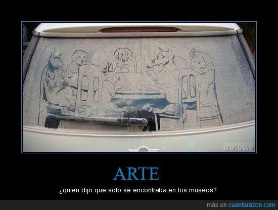 arte,coche,cuadro,sucio