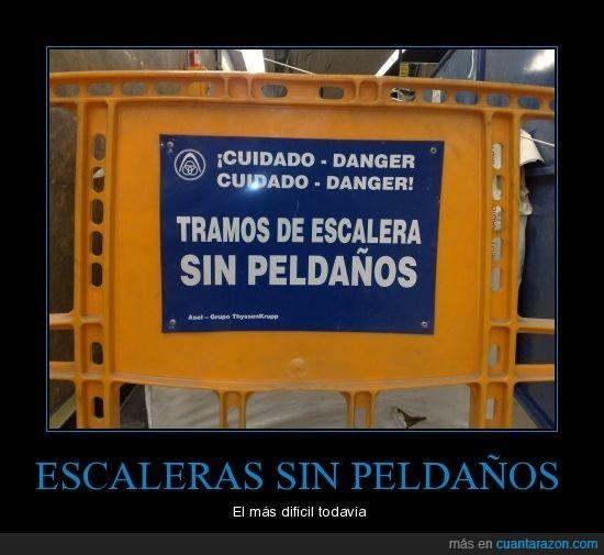 cartel,escaleras,Madrid,metro,peldaños