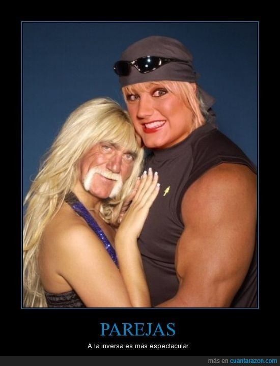 espectacular,hulk hogan,parejas