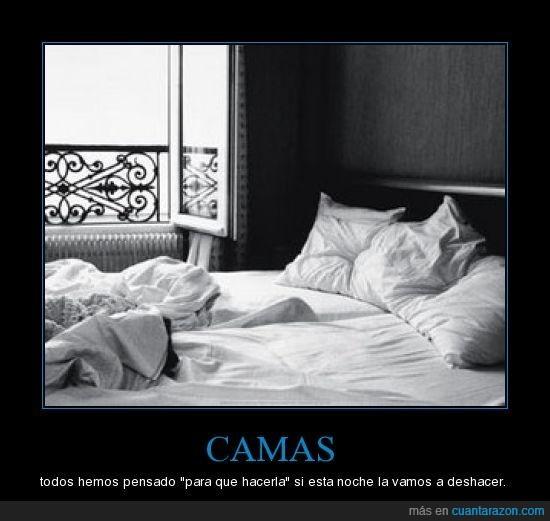 camas,deshacer,sabanas