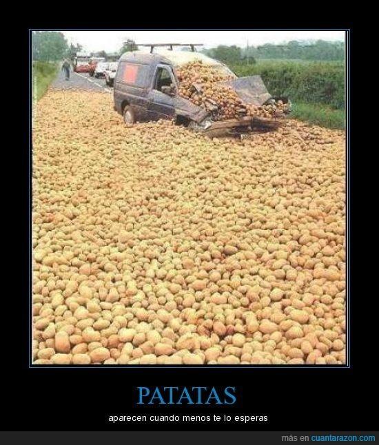 accidente,patatas