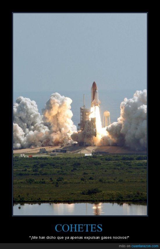 cohetes,gases,nocivos