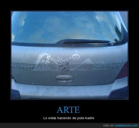 307,arte,coche,dragón,peugeot
