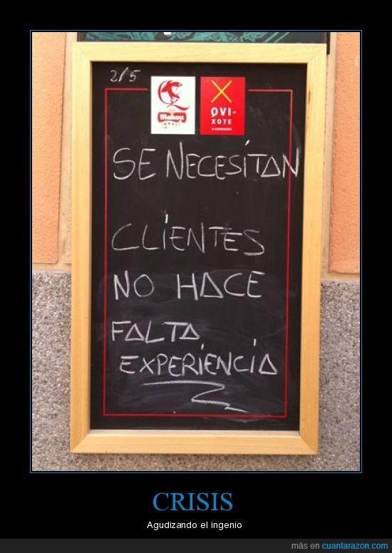 bar,clientes,crisis,experiencia