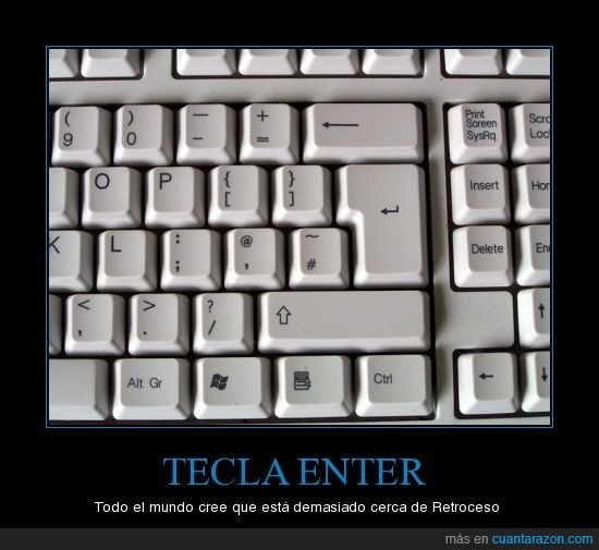 backspace,enter,retroceso,teclado