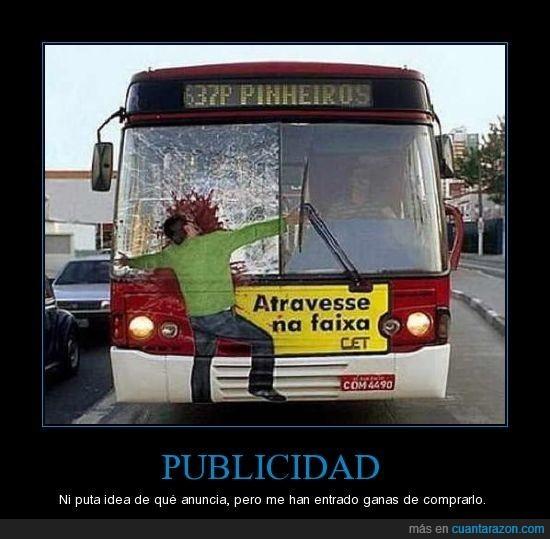 atropellado,autobus,publicidad