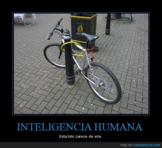 bicicleta,carencia,humana,inteligencia,tonto
