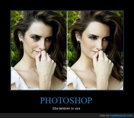 penelope cruz,photoshop,retoque,usa