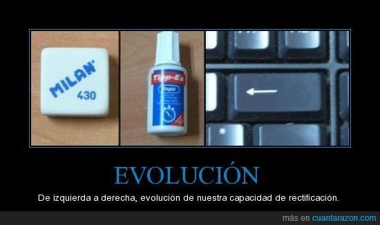 borrar,evolución,goma,rectificación,teclado,tipex