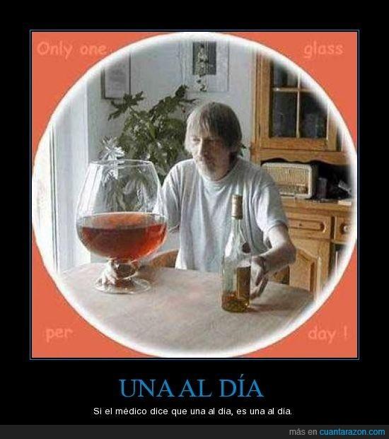alcohol,copa,médico,una