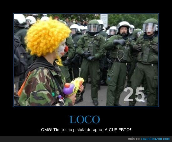 agua,fail,Loco,OMG,pistola,policia