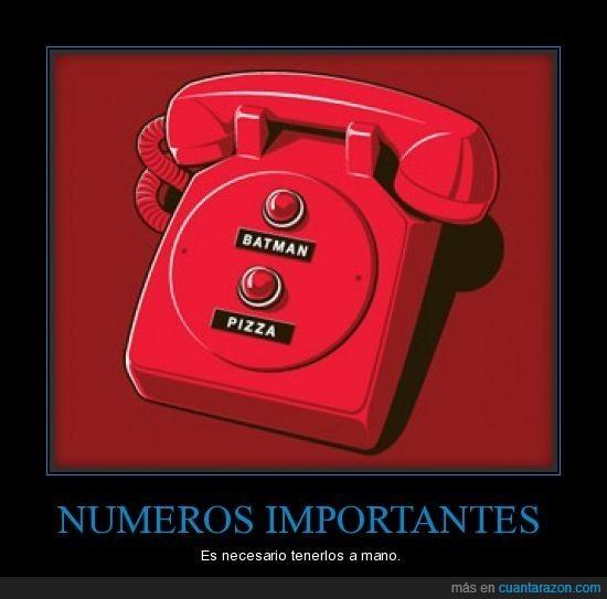 batman,lineadirecta,pizza,telefono